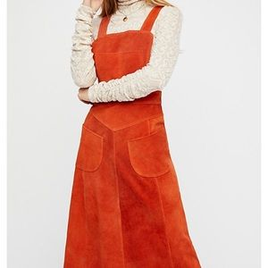 Free People suede dress NWT